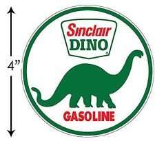 SUPER HIGH GLOSS OUTDOOR 4 INCH SINCLAIR GASOLINE DINO DECAL STICKER