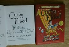 PAUL STEWART & CHRIS RIDDELL SIGNED CORBY FLOOD 1/1 UK HB'DJ 2005 BRAND NEW COPY
