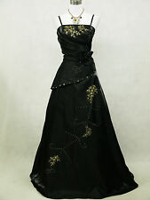 Cherlone Plus Size Black Ballgown Wedding/Evening Formal Bridesmaid Dress 22-24
