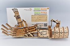 Wood Trick Robotic HAND Mechanical Model 3D Wooden Puzzle Self-Propelled DIY Kit