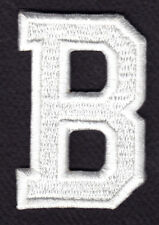 "LETTERS - WHITE BLOCK LETTER ""B"" (1 7/8"") - Iron On Embroidered Applique Patch"