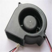 Black Brushless DC Cooling Blower Fan 2 Wires 5015S 12V 0.12A 50x15mm New