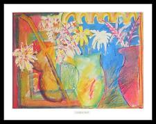 Charlie Holt o. T. Blumenvase Poster Bild Kunstdruck & Alurahmen schwarz 56x71cm