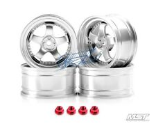 MST Flat silver SP1 1/10 Drift Car Wheels offset 5 (4 PCS) 102064FS New