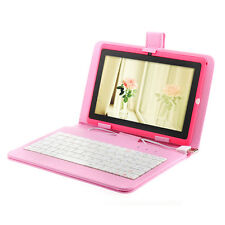 "Pink 8GB 7"" Android 4.0 Tablet PC Dual Cameras A13 Wifi Bundle Keyboard Case MID"