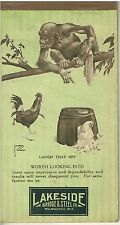 April 1937 Advertising Note Calendar Pad  Lawson Wood Chimpanzee Cover