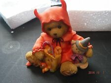 Cherished Teddies Alec Devilishly Adorable  SIGNED  Halloween Figurine 4008162