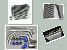 "800HP 400X400X100mm Intercooler + 76MM 3"" PIPING + SILICONE Kit FOR BA BF FG XR6"