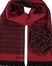 VERSACE scarf - red & black wool - £300 шарф / sciarpa / Schal / écharpe / スカーフ