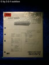 Sony Service Manual CDP 991 CD Player (#0536)