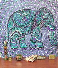 psychedelic elephant tapestry hippie wall hanging queen indian bedcover blanket