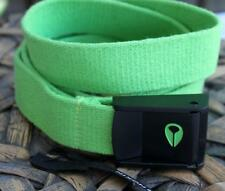 NIXON Mens Cloth Belt Free Size Heavy Drill Green Icon Snap Buckle Brand New