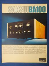 SANSUI BA-100 SALES BROCHURE ORIGINAL FACTORY ISSUE THE REAL THING