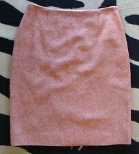 MOSCHINO cheap and chic pink tweed pencil skirt wool silk S M