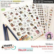 Beauty Bonnie Series Stickers Marker Memo Flag Sticky Note Index Tab 6 sheets