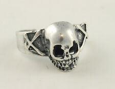 TESCHIO PICCOLO OSSA ANELLO RING METALLO PUNK DEATH 095