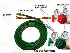 Devardi Glass Lampworking Oxygen/propane Torch regulator, hose kit, Beadmaking