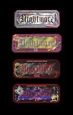 Nightmare I II III & IV Video Board Game Video Tape DVD Combo Pack!