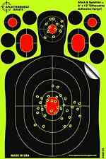 "NEW 25 Pack 12"" X 8"" Silhouette Splatter Targets Glowshot Gun Rifle Shooting BB"