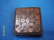 Post-WWI U.S. Army Cloth Insignia Patches Copper Newspaper Printing Plate 1920's