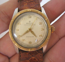 Rare Vintage Men ROLEX Oyster Speed King 14K Bezel Manual Wind Wrist Watch SWISS