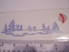 COTTAGE CUTZ KIDS SKATING SNOW  SILHOUETTE CHRISTMAS WINTER FUN SCENE METAL DIE