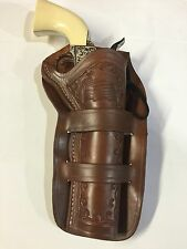 "Ruger Vaquero,Colt SAA & Similar 51/2"" Revolvers Dbl Loop Leather Holster"