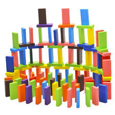 New 120pcs/Set Mix 10 colors Wooden Kids Children Domino Game Playing Toys @J9