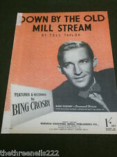 ORIGINAL SHEET MUSIC - DOWN BY THE OLD MILL STREAM - BING CROSBY