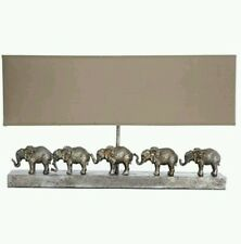 Huge X Large Silver Elephant Table Lamp Base and Shade African