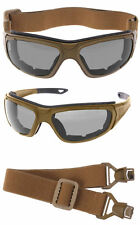 Coyote Brown Adaptable Tactical Sports Glasses To Goggles Rothco 10388