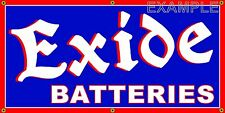 EXIDE BATTERIES VINTAGE SIGN OLD SCHOOL REMAKE BANNER SHOP GARAGE ART 2 X 4