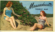 1952-53 Massachusetts Official State Tourist Road Map