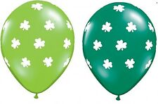 St Patrick's Day Party Supplies - Shamrocks Latex Balloons 28cm - 2 for $1.75