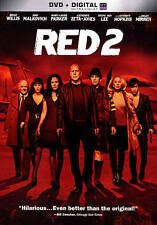RED 2 (DVD, 2013, Includes Digital Copy UltraViolet) VG