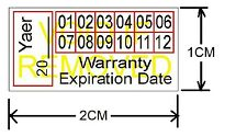 160Pcs 3 Color Warranty Sticker Seal Label Temper Proof Void Temper Warranty
