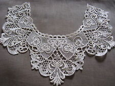 4 PCS LOVELY NATURAL VICTORIAN RAYON VENISE COLLAR APPLIQUE