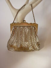 VTG Whiting and Davis Mini Mesh Evening Bag / Purse/ Handbag Silver PROM Bridal