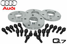 4 Pc 2007-2014 Audi Q7 20 MM Hub Centric Wheel Spacers W/ OEM Black Lug Bolts