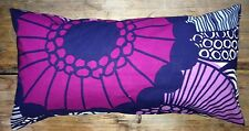 Marimekko Siirtolapuutarha pillow cushion case, 30x60cm Finland gray purple