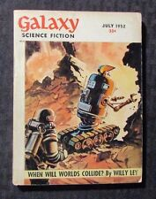 1952 July GALAXY Science Fiction Digest Magazine VG/FN 5.0 Willy Ley