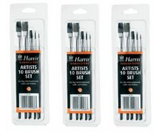 3 x 10 Pc Harris Performance Fine Detail Artist Paint Brush Set