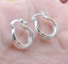 New Women 925 sterling silver Fashion Hoop Dangle Earring Studs Jewelry