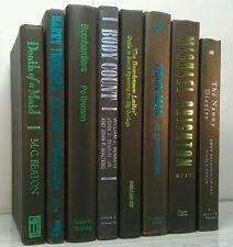 ELECTRIC BLUE GREEN~BLACK~7 Modern Book Lot~Decorative Display Set