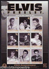 Elvis Presley 25th Anniv Unmounted Mint Stamp Sheet from Petite Martinique