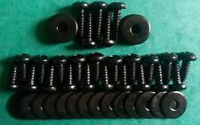Land Rover Defender 25 STAINLESS Floor Screws & Washers  MILITARY BLACKED 90 110
