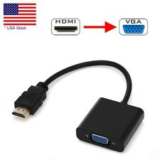 HDMI Male to VGA Female Video Converter Adapter Cable For PC DVD 1080P HDTV TV