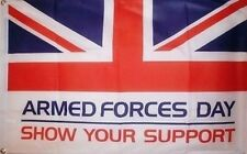 HUGE 8ft x 5ft Armed Forces Day Flag British Army Royal Navy RAF Air Force Union