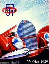 1939 Bugatti French France Automobile Car Vintage Advertisement Art Poster Print