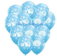 "12ct IT'S A BOY ELEPHANT 11"" Latex Balloons Baby Shower Party Supplies Décor"